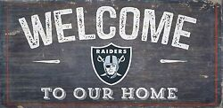 Oakland Raiders Welcome to our Home Wood Sign - NEW 12