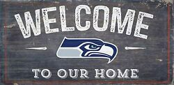 Seattle Seahawks Welcome to our Home Wood Sign - NEW 12