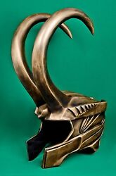 Loki cosplay helmet Avengers replica prop headpiece with horns Marvel
