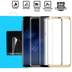 Full Cover Tempered Glass Screen Protector For Samsung Galaxy S9 S8 S7 Edge Plus $5.89