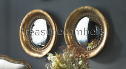"""Oxidized Copper Round Convex Wall Mirrors 17"""" Set of 2 $310.20"""