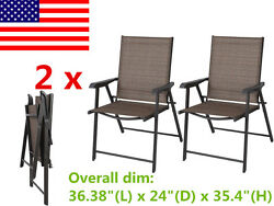 US Set of 2 Outdoor Patio Folding Chair Furniture Camping Deck Garden Pool Beach