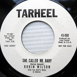 ROBIN WILSON teen pop 45 She called me baby Gonna build a mountain PROMO e9628