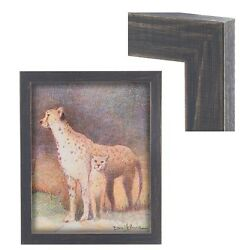 New Modern Contemporary Rustic Blue Wood Frame For Art Painting Photo Picture $53.31