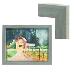 Modern Contemporary Rustic Gray Wood Frame For Art Painting Photo Picture Grey $79.29