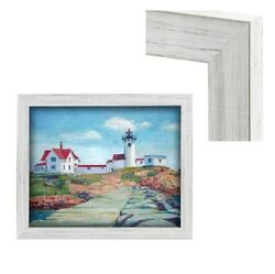 Modern Contemporary Rustic White Wood Frame For Art Painting Photo Picture Gray $53.31