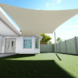 Sun Shade Sail Quadrilateral Permeable Canopy Lawn Patio Pool Garden Cover $61.63