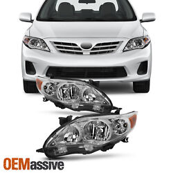 Fits 2011 2012 2013 Toyota Corolla Headlights Replacement Lamps Pair 11 12 13 $88.99