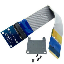 mini pcie extension card male to female slot adapter half to full size Bracket $17.09