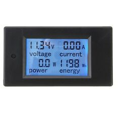 DC 20A LCD Combo Meter Voltage Current KWh Watt Car Battery Pannel Power Monitor $8.59
