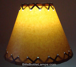 Rustic Cabin Cottage Table Light LAMP SHADE quot;Clip Onquot; Bulb 9quot; inch X Laced Cone $25.99