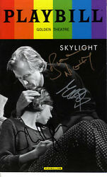 Skylight Signed X3 Bill Carey Matthew Playbill UACC RD AFTAL COA