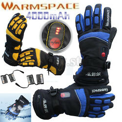 PRO Smart 4000mAh Rechargeable Battery Electric Heated Hands Ski Warmer Gloves