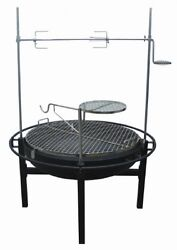 Outdoor Fire Pit Grill Camping BBQ Patio Backyard Picnic Stove w Rotisserie NEW
