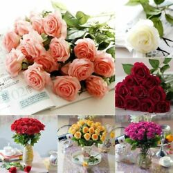 2010Heads Real Touch Latex Rose Flower Bridal Wedding Bouquet Home Office Decor