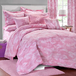 BROWNING BUCKMARK PINK CAMO BEDDING BED IN A BAG - COMFORTER & SHEET SET