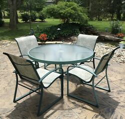 Winston 5pc Patio Set 4 Sling Back Chairs. 48