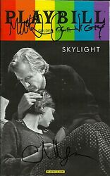 Skylight signed PRIDE Playbill carey mulligan bill nighy matthew beard