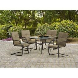 5 Piece Patio Dining Set Garden Outdoor Rocking Chairs Bistro Table Furniture