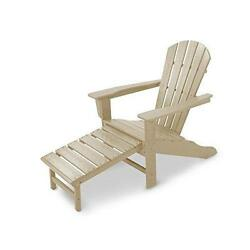 Ultimate Adirondack Chair with Ottoman in Sand (POLYWOOD)