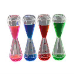 Colorful Children's Diamond Shaped Liquid Motion Hourglass Timer Bubbler Toy $19.95