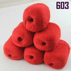 Sale New 300g1380y Super Fine Pure 100% Cashmere Hand Knitting Yarn 603 Red