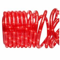 Brite Star Rope with Clear Lights 18ft Red Outdoor Lightstring New