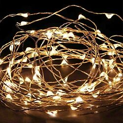 Starry String Lights Power Adapter -- 20ft 120Led Warm White Flexible Wire For O