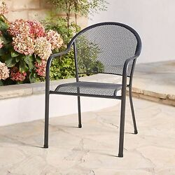 Stackable Commercial Steel Mesh Outdoor Bistro Cafe Patio Chair ~ 16-Pack