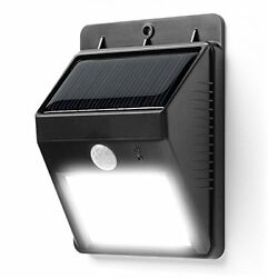 EBAT 6LEDs Solar Power Security Motion Sensor Lamp For Passageway Outdoor Black