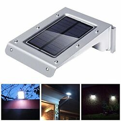 20 LED Bright Solar Powered Motion Sensor Light voice control Outdoor Garden Pat