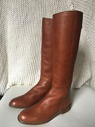 New Leather Madewell Sidney Boots in Brown B2065 $298 Sz 7.5 Sold Out Online