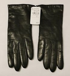 Neiman Marcus Long Dark Brown LeatherCashmere Lined Ladies Gloves Size 7 Italy
