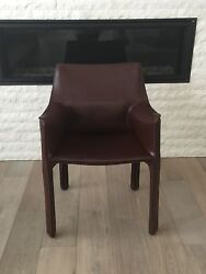 Mario Bellini Leather Cab Chairs for Cassina - set of 6