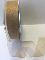 1quot; Sheer Twinkle Ribbon May Arts – Antique Gold CT32 5 Yards $2.50