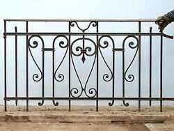 Antique Wrought Iron Balcony #2608