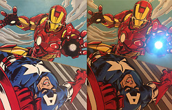 Iron Man Captain America Marvel Painting PAPA Art Gallery - Now Accepting Crypto