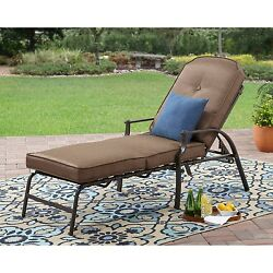 Outdoor Chaise Lounge Chair Pool Lounger Adjustable Recliner Patio Furniture