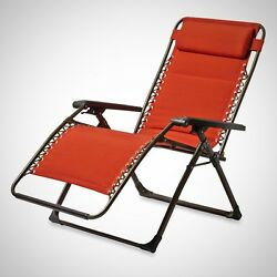 Zero Gravity Chair Oversized Padded Adjustable Lounge Comfortable Outdoor New