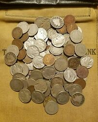 Old US Coin Estate Lot Buffalo Nickel V Nickel and Indian Cent 3 Antique Coins $8.89