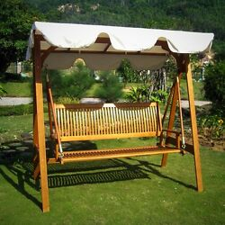 Outdoor Garden Swing Canopy 3 Seater Weather Resistant Durable Furniture Patio