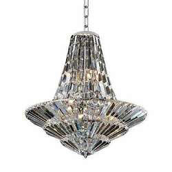 Allegri 11424-010-Fr001 Auletta 1 Art Deco Chandelier-Chrome