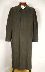 Trussini Linea Classico Cashmere Wool Blend Italian Tweed Trench Over Co
