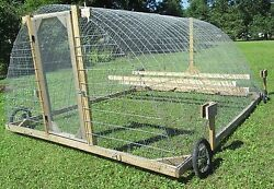 10 x 13 Used Mobile Portable Chicken Turkey Duck Geese Tractor CoopGreenhouse
