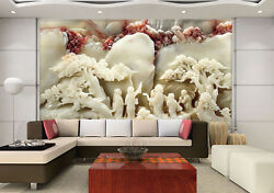 3D White Tree Person Painting 6 Wall Paper Wall Print Decal Wall AJ WALLPAPER CA