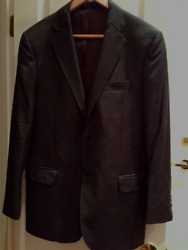 Yves Saint Laurent Rive Gauche Gray Wool Suit Size 38 US Used 1X Only