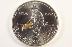 SILVER AMERICAN GOLD PROSPECTOR COIN with 3 GOLD NUGGETS gold miner silver round $89.00