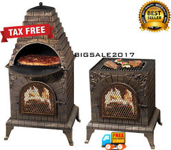Commercial Kitchen Pizza Baking Oven Unique Outdoor Fireplace BBQ Grill Burning