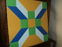 2#x27; x 2#x27; Exterior Building Decor Sign or Barn Quilt Multi Colored Geometric