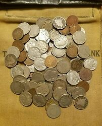 Old US Coin Estate Lot Buffalo V Liberty Nickels Indian Penny Cent Antique $